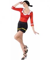 Feestkleding olijfje van popeye kostuum