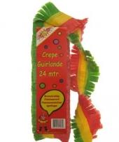 Feestslingers rood geel groen