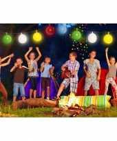 Feestverlichting slinger met gekleurde ballonnen