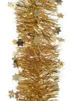 Feestversiering folie slinger sterretjes goud 10 x 270 cm kunststof plastic kerstversiering