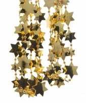 Feestversiering kralen slinger goud sterretjes 270 cm kunststof plastic kerstversiering