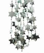 Feestversiering kralen slinger mintgroen sterretjes 270 cm kunststof plastic kerstversiering