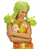 Fel gekleurde groene dolly pruik
