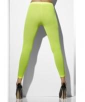 Fel groene leggings voor dames