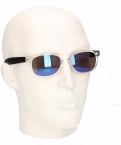 Festival mannen zonnebril met blauwe glazen