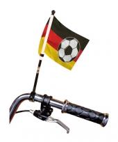 Fietsvlag duitse kleuren met voetbal