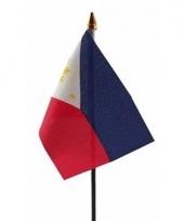 Filipijnen luxe zwaaivlaggetje polyester