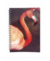 Flamingo schrijfboekje 3d 21cm
