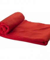 Fleece deken rood 150 x 120 cm