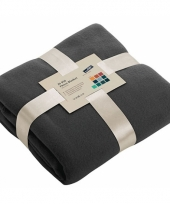 Fleece dekentje in antraciet kleur