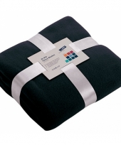 Fleece dekentje in navy blauwe kleur