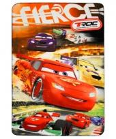 Fleece kleedje cars rood voor kids