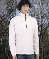 Fleece sweater naturel