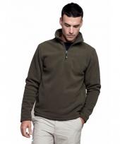 Fleece trui voor heren met ritskraag