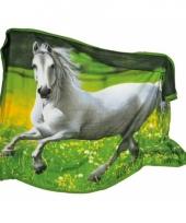 Fleecedeken met wit paard