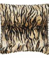 Fluwelen kussen met tijgerprint 47 x 47 cm