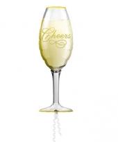 Folie ballon champagne 90 cm