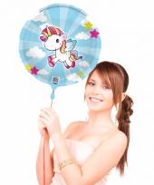 Folie ballon met helium eenhoorn