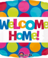 Folie ballon welcome home met helium 43 cm