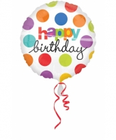 Folie ballonnen birthday gekleurd 10027465
