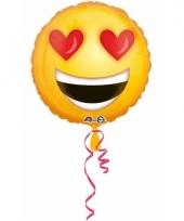 Folie ballonnen hartjes ogen smiley 43 cm