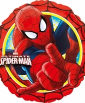 Folie ballonnen spiderman 43 cm