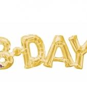 Folieballon birthday goud 66 cm