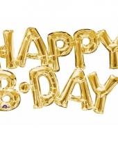 Folieballon happy b day goud 55 cm