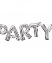 Folieballon party zilver 83 cm