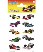 Formule 1 auto stickers 3 stickervellen