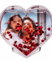 Fotolijst in de vorm van een hart