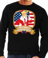 Foute kersttrui zwart christmas is gonna be huge voor heren