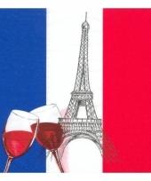 Frankrijk decoratie servetten 50 st