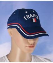 Frankrijk pet met vlag 100 katoen