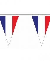 Frankrijk versiering vlaggenlijn 5 m