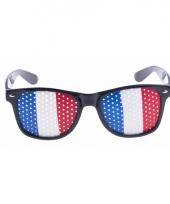 Frankrijk vlag zonnebril