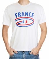 Frankrijk vlaggen t-shirts voor heren