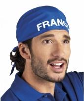 Franse supporters bandana blauw