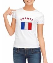 Franse vlaggen t-shirt voor dames