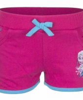 Frozen anna en elsa short fuchsia voor meisjes