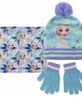 Frozen elsa handschoenen sjaal muts voor kinderen
