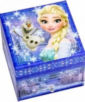Frozen juwelen opbergdoosje blauw