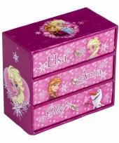 Frozen juwelen opbergdoosje roze 12 x 6 x 11 cm