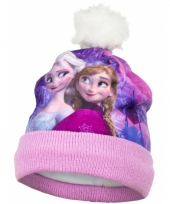 Frozen kindermuts roze met fleece