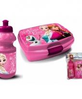 Frozen lunch trommel met bidon roze 10092977