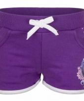 Frozen short paars voor meisjes
