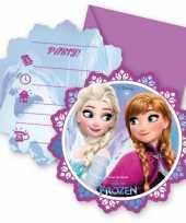 Frozen thema uitnodigingen 12 stuks