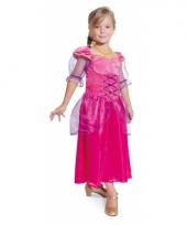 Fuchsia prinsessen verkleedjurk voor meisjes