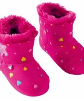 Fuchsia roze kindersloffen