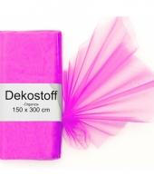 Fuchsia roze organza stoffen 150 x 300 cm